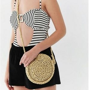 Urban outfitters soft straw circle bag